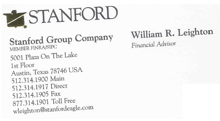 William Leighton Business Card