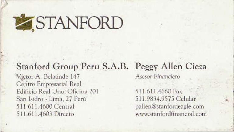 Peggy Allen Business Card