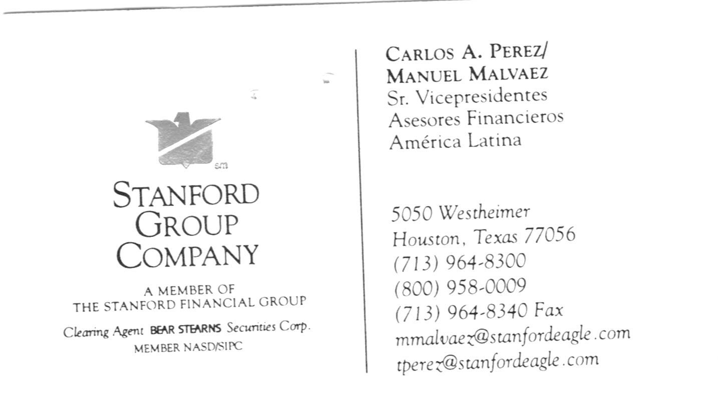 Manuel Malvaez Business Card
