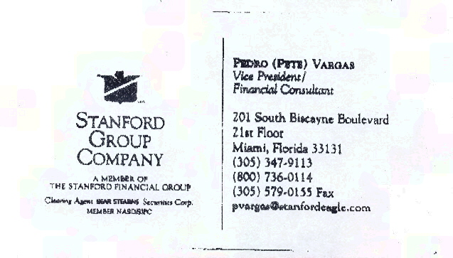 Pete Vargas Business Card