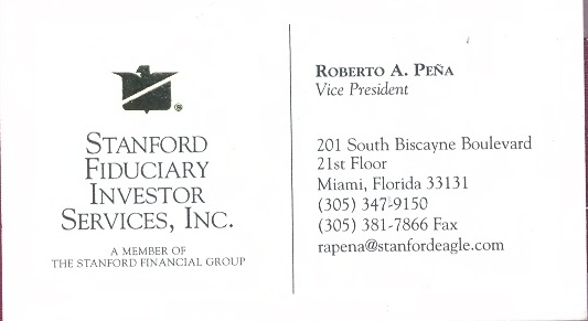 Roberto Peña Business Card