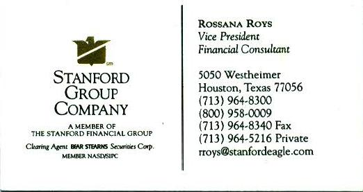 Rossana Roys Business Card