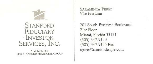 Saraminta Perez Business Card